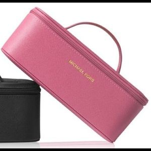New Micheal kors pink travel cosmetic case wmirror